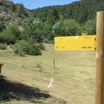 Indicador a Sierra Alta tras la Rampla Clavera