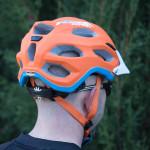 Vista trasera del casco