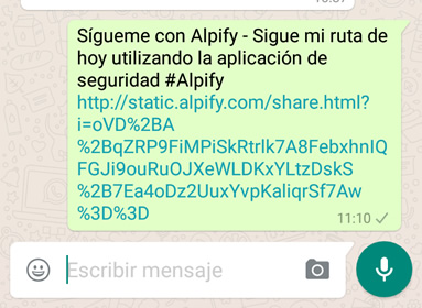 Ejemplo al compartir en Whatsapp