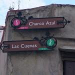 Indicador del inicio de la ruta en la Calle las Cuevas