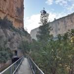 Canal entre las paredes del Cañón del Turia