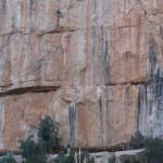 Escaladores en la pared del Cañón del rio Turia