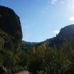 Vista de Chulilla desde el cañón