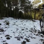 Tuvimos la suerte de encontrar algo de nieve