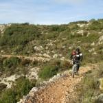 Inicio de la senda en el Barranco de Fontanares