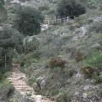 Escaleras del fin de la bajada del Benicadell