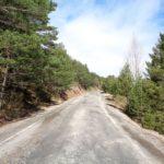 Carretera tras abandonar Alcalá de la Selva