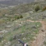 Ultimo tramo de la senda de bajada