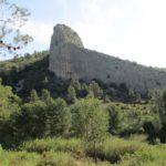 Bonita pared rocosa junto al rio Albaida