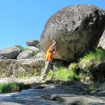 Bloques de piedra en Las Chorreras