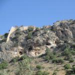Parte trasera del Castillo de Xátiva por el Barranco de la Solana