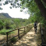 Inicio de la senda junto al Riu D'Albaida