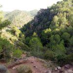 El sendero se empina bastante en el Barranc de La Font