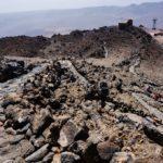 Vista del camino y la casita de los vigilantes y punto de acceso al pico del Teide