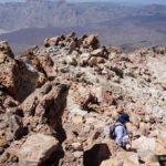 Iniciamos la bajada del pico del Teide