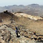 Bajando por el sendero nº 10 – Telesforo Bravo desde el pico del Teide