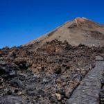 Inicio del sendero para ascender al Pico del Teide