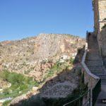 Escaleras por las que bajaremos desde Ayna a la zona de huerta