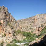 Vista del barranco del Rio Mundo junto a Ayna
