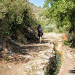 Caminio tras cruzar el puente y abandonar la zona de huerta