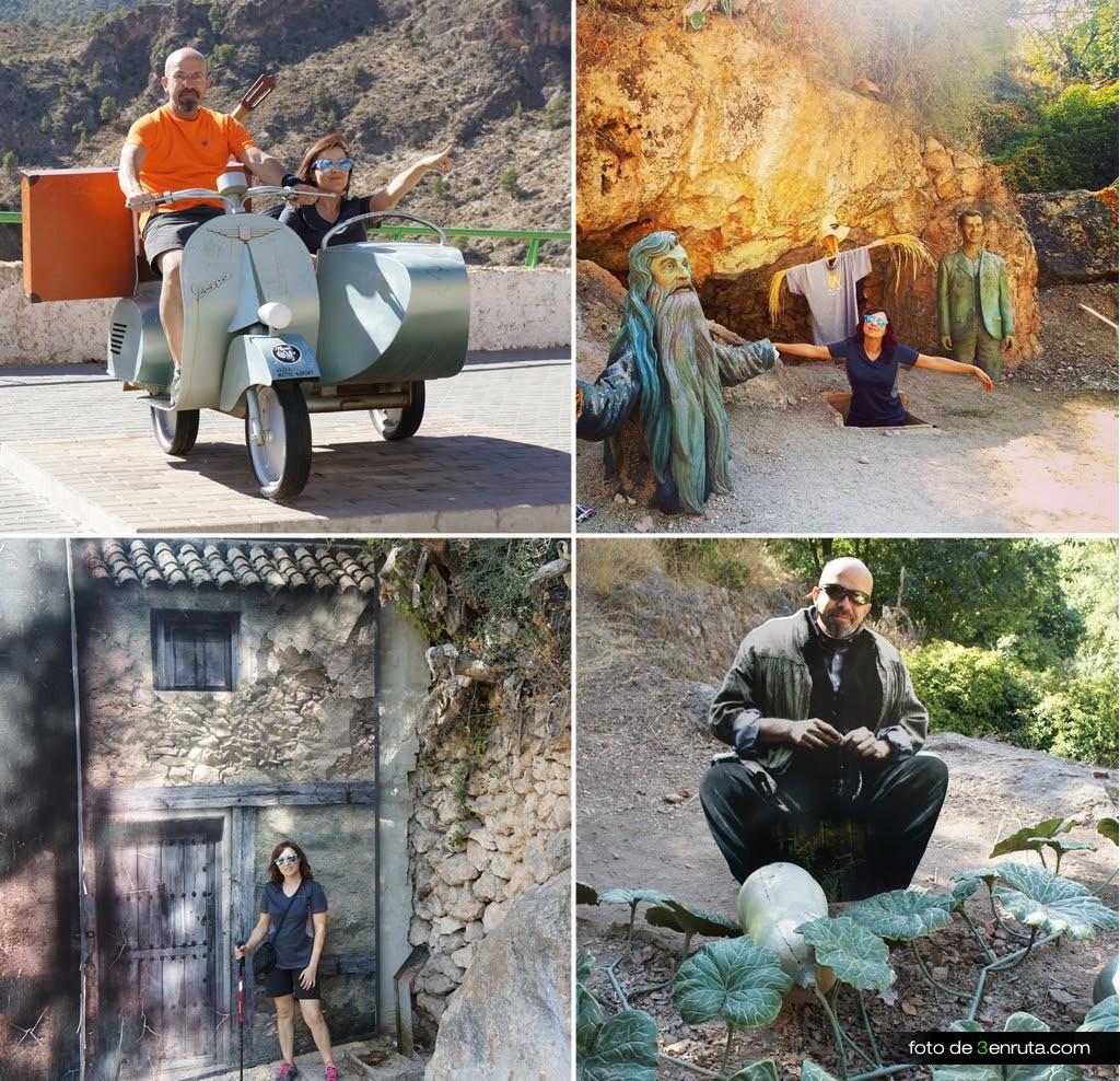 Diferentes escenarios de la grabación del a película Amanece que no es poco en Ayna
