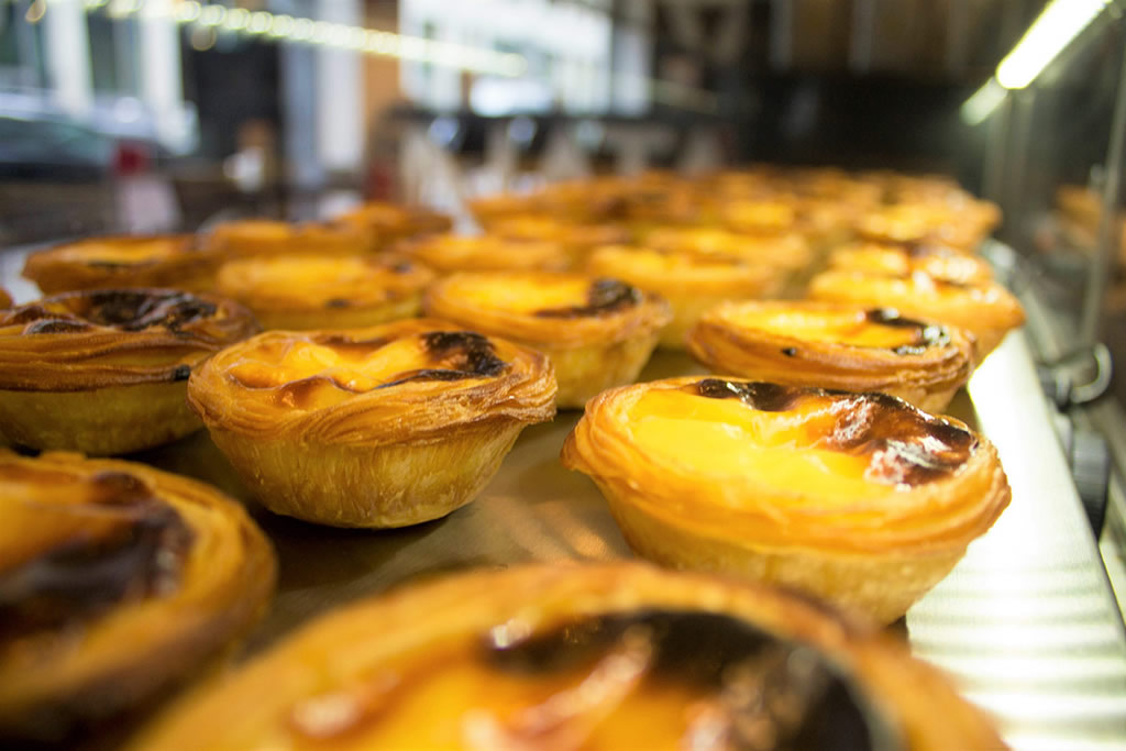 Deliciosos pasteles de nata de Lisboa