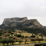 Vista de la Silla del Cid frente a nosotros