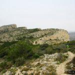 Vista de la Silla del Cid desde el collado