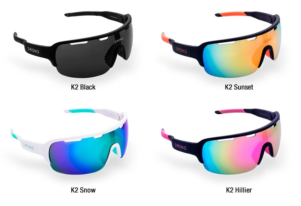 Las Siroko Tech k2 están disponibles en 4 colores