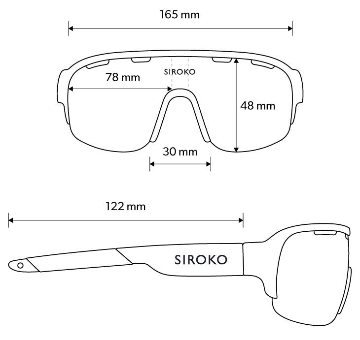 Medidas de las gafas