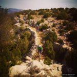 Bonito sendero de descenso desde el Peñarroya