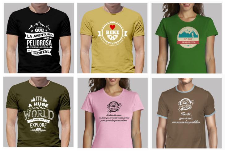 Camisetas de ciclismo y senderismo