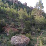 Sendero de la Virgen tras el barranco de Valdaños