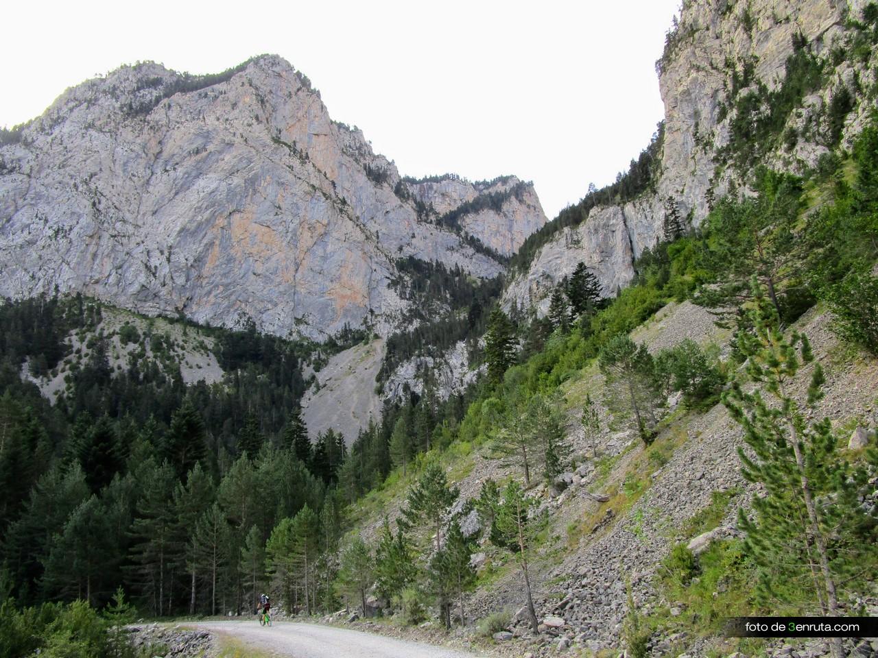 El paisaje alpino que nos rodea es precioso