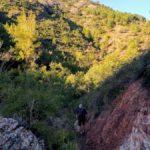 Sendero de bajada al Barranco del Agua Negra