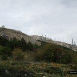 Vista de la Base militar de Aitana desde la Font de Forata