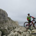Christian en lo alto del Pass de la Rabosa con Forata al fondo