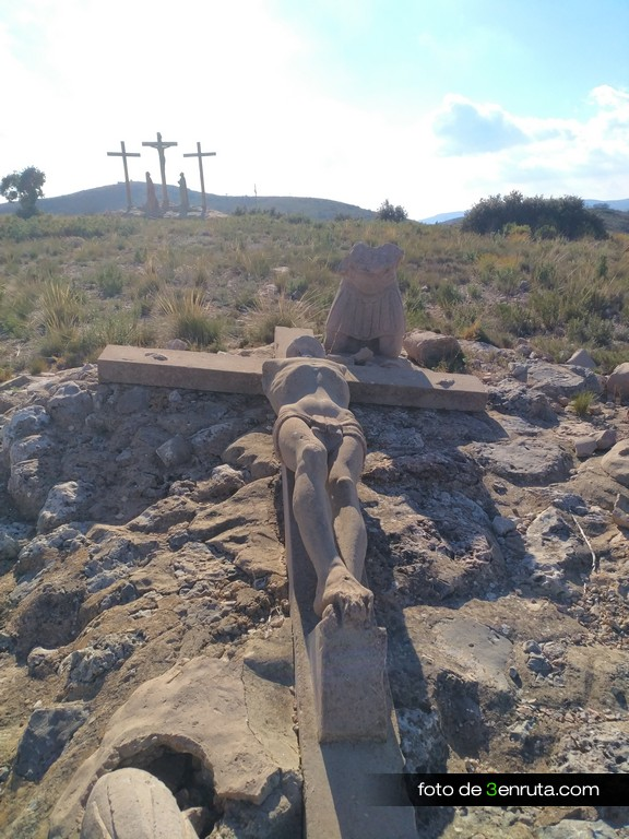 Representación de la crucifixión de Jesús