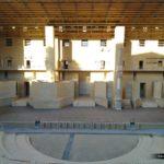 Escena y orquesta del teatro romano de Sagunto