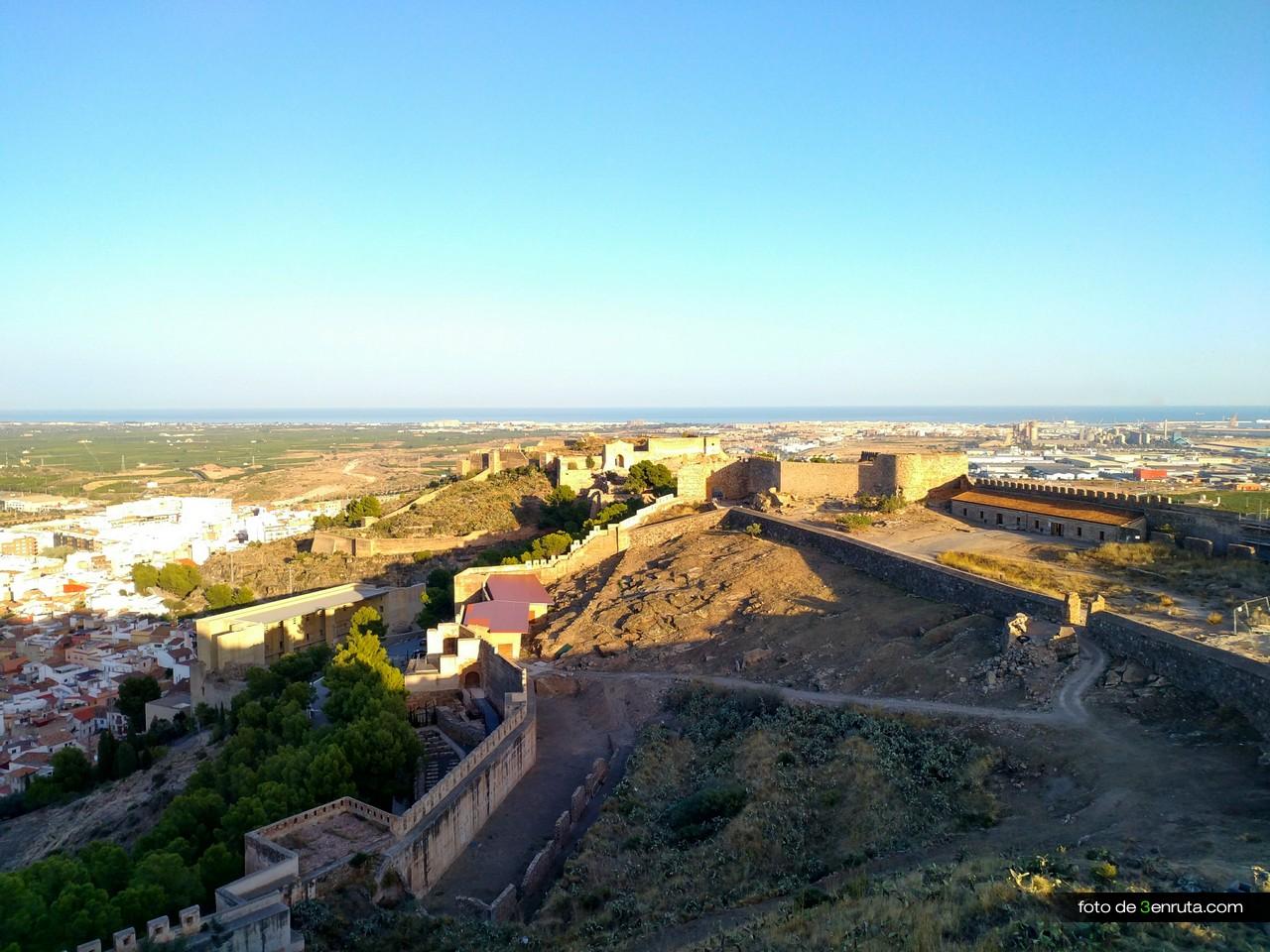 Vista del castillo desde su interior