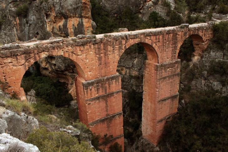 Calles – Barranco del Mas – Peña cortada – Acueducto Romano