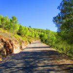 Pista casi-asfaltada tras pasar Adzeneta