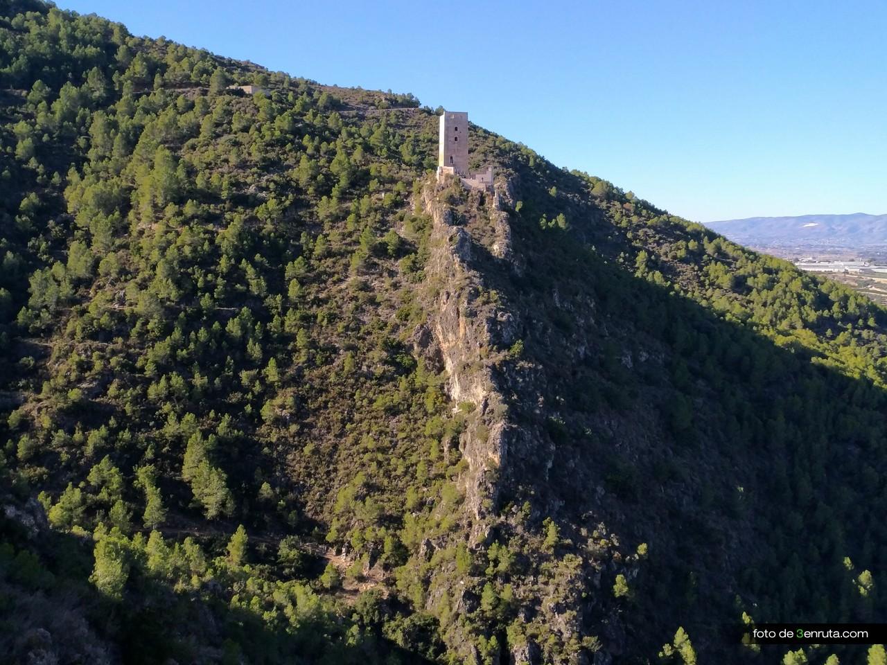 Castillo de Carrícola desdel a pista