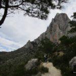 Sendero junto al Puig Campana