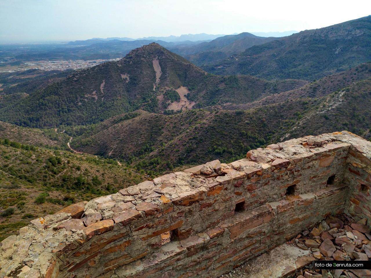 Balcón fortificado en las trincheras