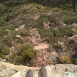 Vista desde las trincheras del Puntal del Calderer