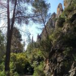 Las paredes con agujas de roca son impresionantes