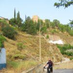 Punto de inicio de la ruta bajo el Castillo de Jalance