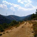 Tramo de pista para superar el Barranco del Chorrillo
