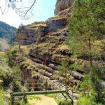 Escaleras para ir superando el Cañón